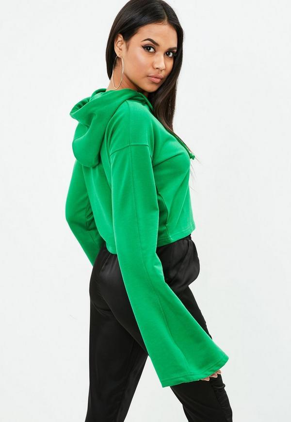 adidas Cotton Originals Mint Womens Crop Hoodie in Green ...  Green Cropped Hoodie