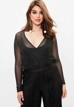 Curve Black Wrap Over Mesh Top