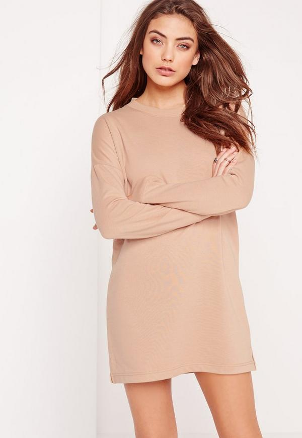 Tall Sweater Dress Nude