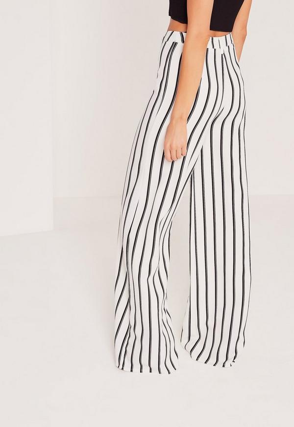 pantalon large blanc ray exclusivit tall missguided. Black Bedroom Furniture Sets. Home Design Ideas