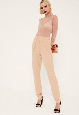 Tall Nude Crepe Joggers