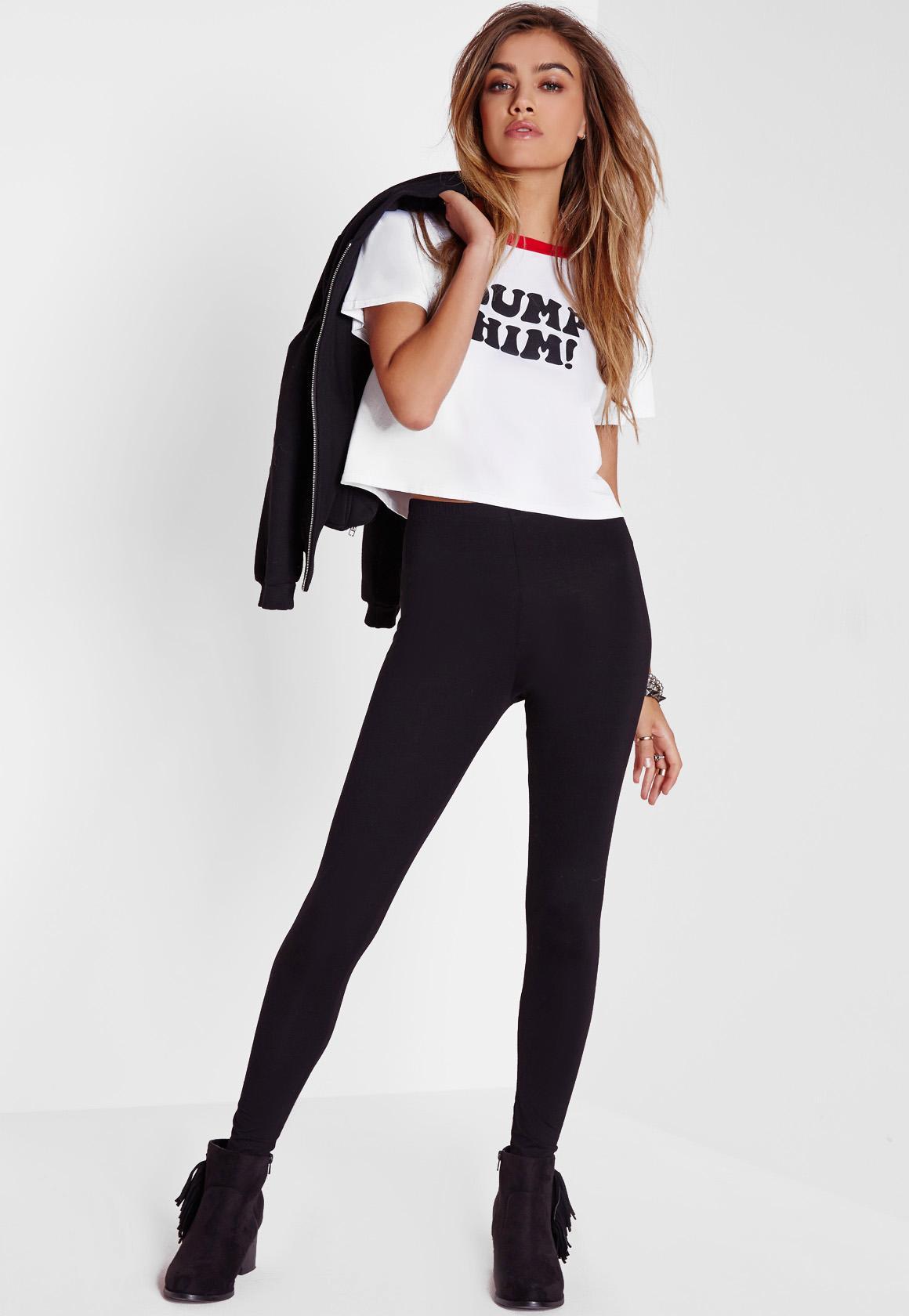fbc38885dc339e Tall Basic Jersey Leggings Black | Missguided