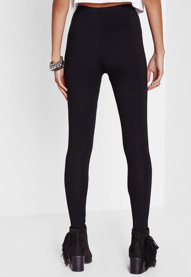 Missguided - Tall Basic Jersey Leggings Black, Black - 2