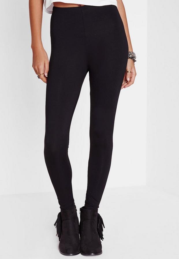 Missguided - Tall Basic Jersey Leggings Black, Black - 3