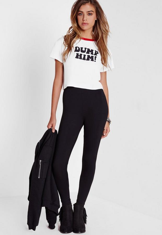 Missguided - Tall Basic Jersey Leggings Black, Black - 4