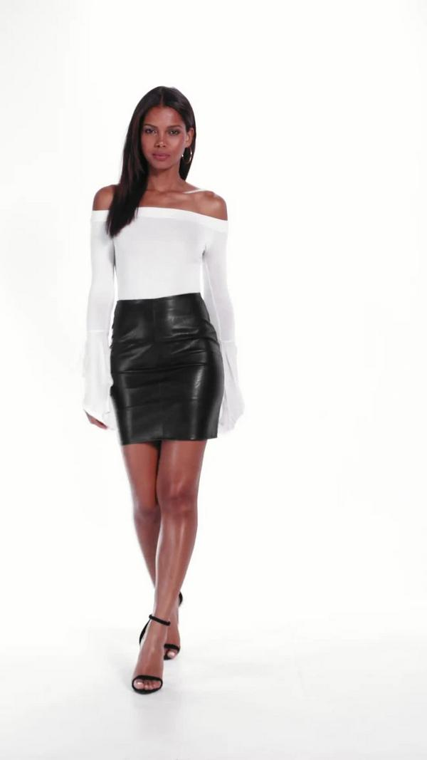 Tall Faux Leather Mini Skirt Black - Tall Clothing - Clothing