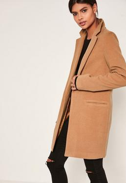 Tall Camel Brown Tailored Coat
