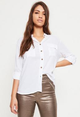 Chemise blanche Tall à poches