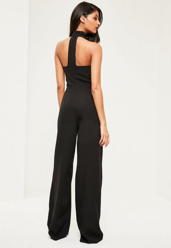 92b9eb0cc5a1 Tall Black Choker Neck Jumpsuit. Was  70.00. Now  22.00 (69% off). Previous  Next