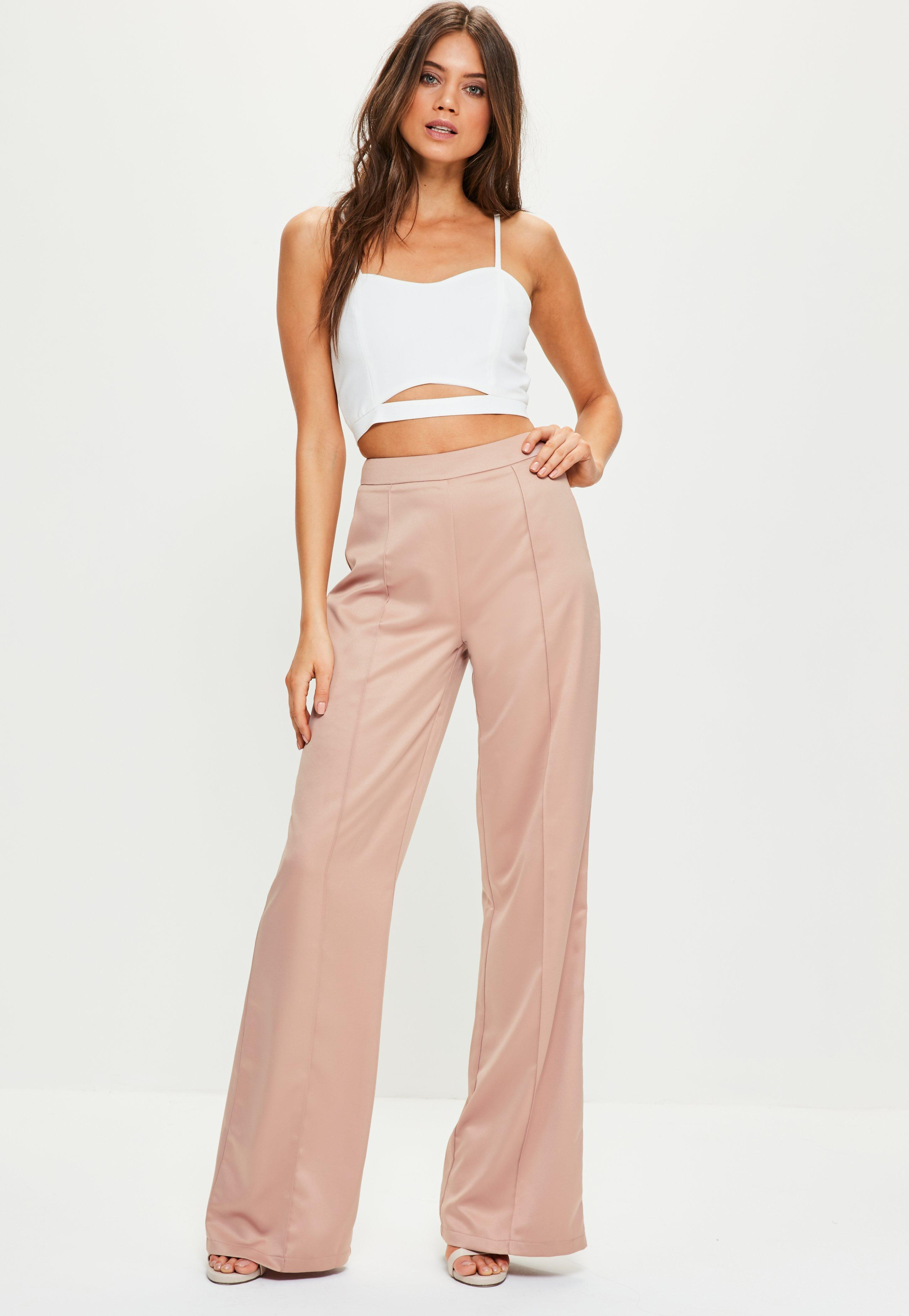 Buy Cheap From China Missguided Satin Polka Dot Wide Leg Trouser High Quality Sale Online Discount Pay With Visa hs8RJH