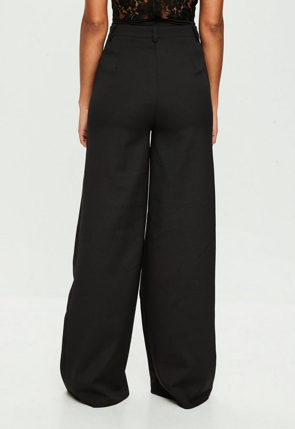 Tall Black Suit Wide Leg Pants Missguided