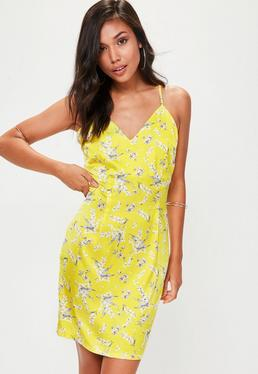 Tall Yellow Printed Cami Dress