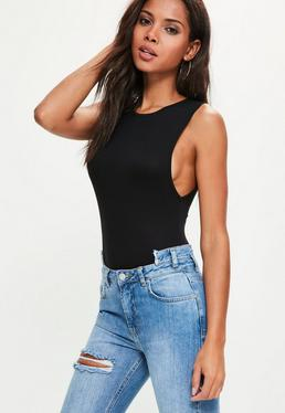Tall Black Drop Armhole Bodysuit