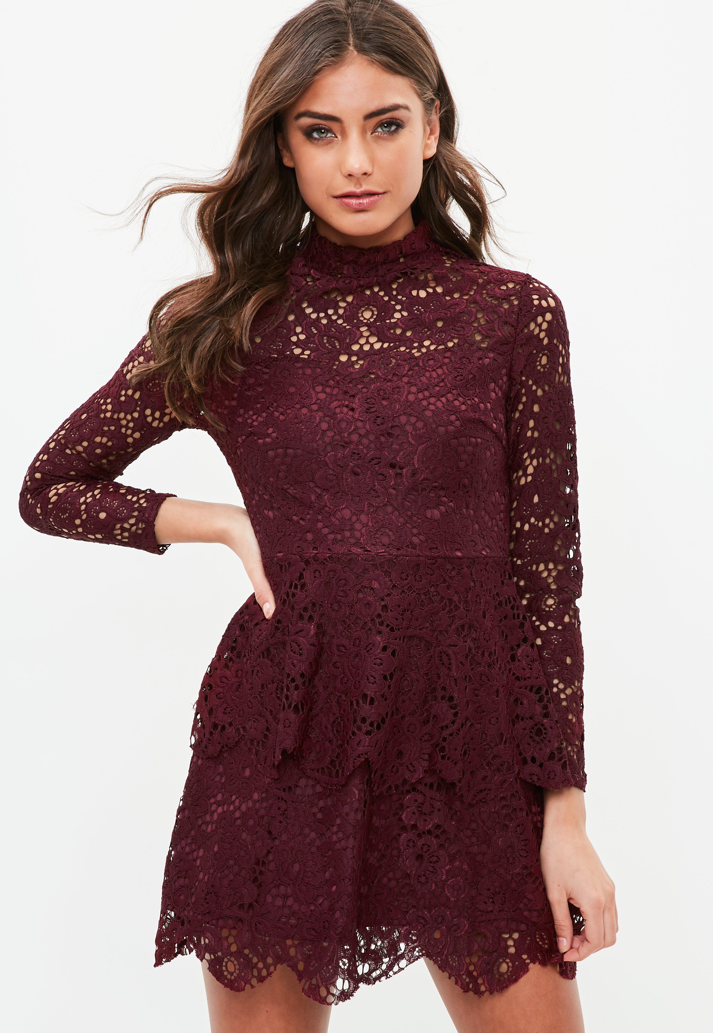 Kleider für Damen - Kleider in Burgunderrot - Missguided DE