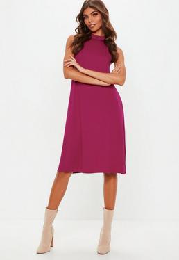 Tall Czarna luźna sukienka mini