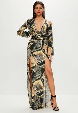 Tall Black Printed Maxi Dress