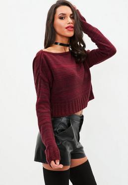 Tall Burgundy Slouchy Sweater