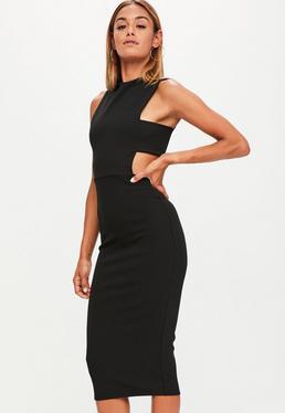 Tall Black Tab Side Dress