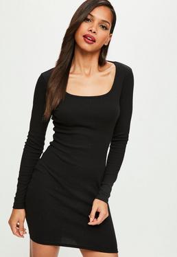 Shirt kleid lang schwarz