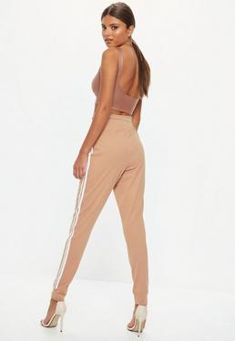 Tall Brown Basic Joggers