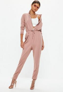 Tall Pink Utility Jumpsuit