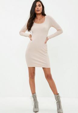 Tall Ribbed Long Sleeve Dress