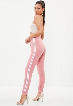 Tall Różowe spodnie joggersy