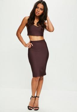 Tall Premium Mauve Bandage Skirt