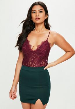 Tall Burgundy Lace Bralet
