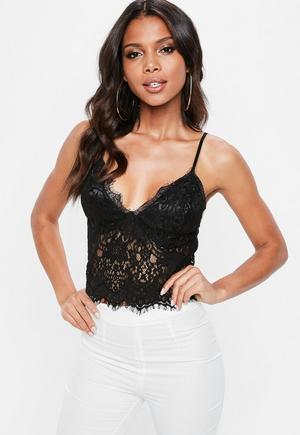d4f7bb54c3c Red Corded Lace Cami   Missguided