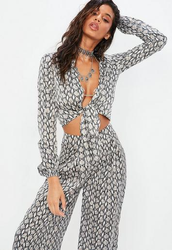 Snake Print Co-Ord – Top