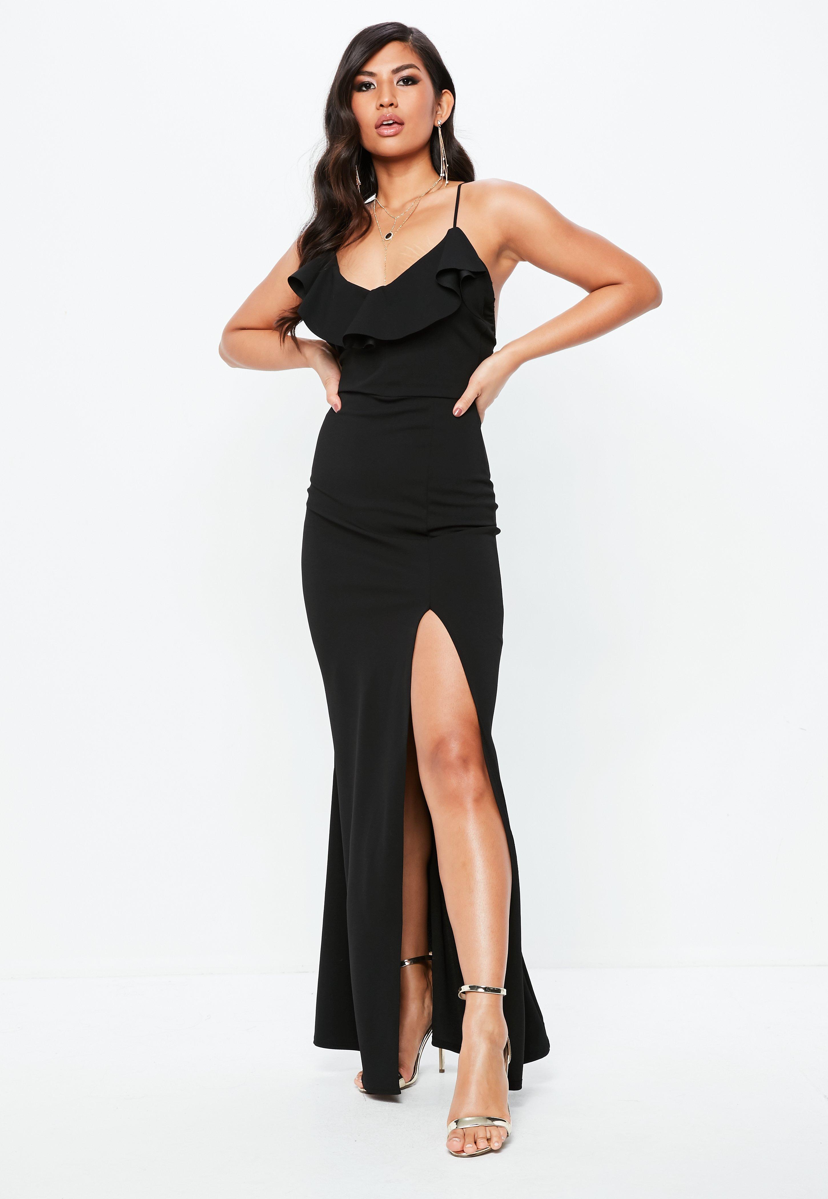 Tall Womens Dresses Tall Maxi Evening Dress Missguided