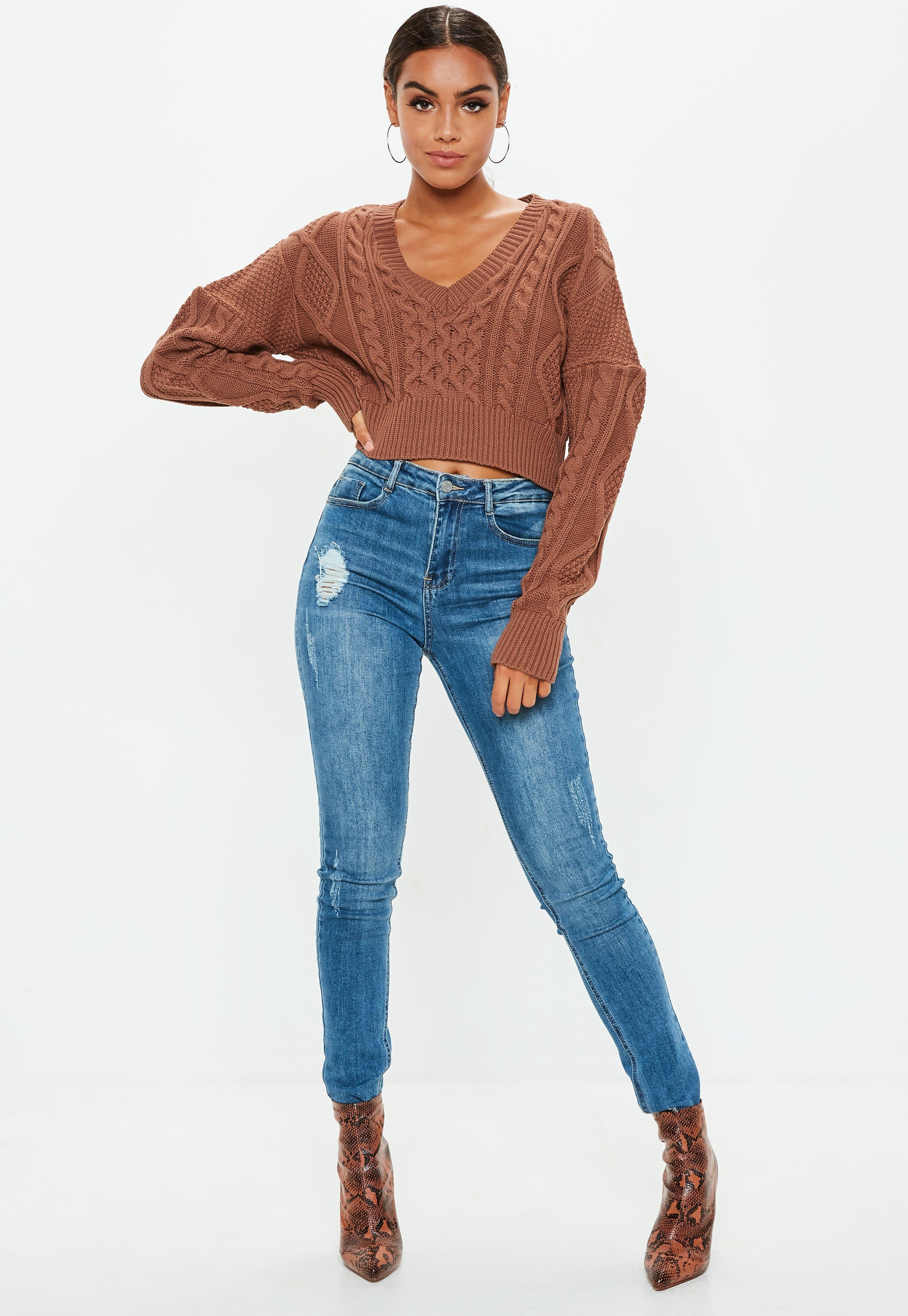 961fcb6b0fd Women s Sweaters - Oversized   Knitted Sweaters
