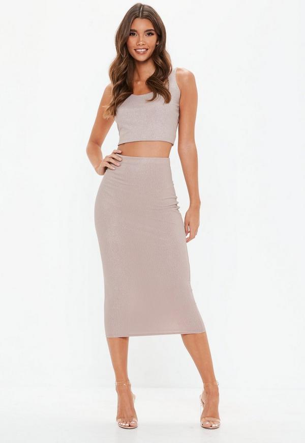 d55d567a7e18c ... Tall Pink Glitter Ribbed Midi Skirt. Previous Next