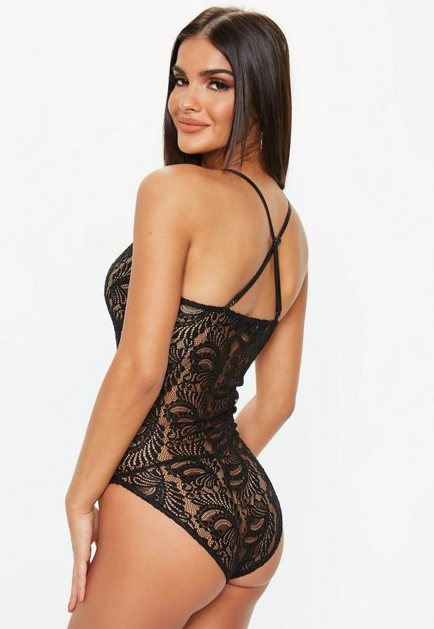 Missguided - Strappy Lace Bodysuit - 4