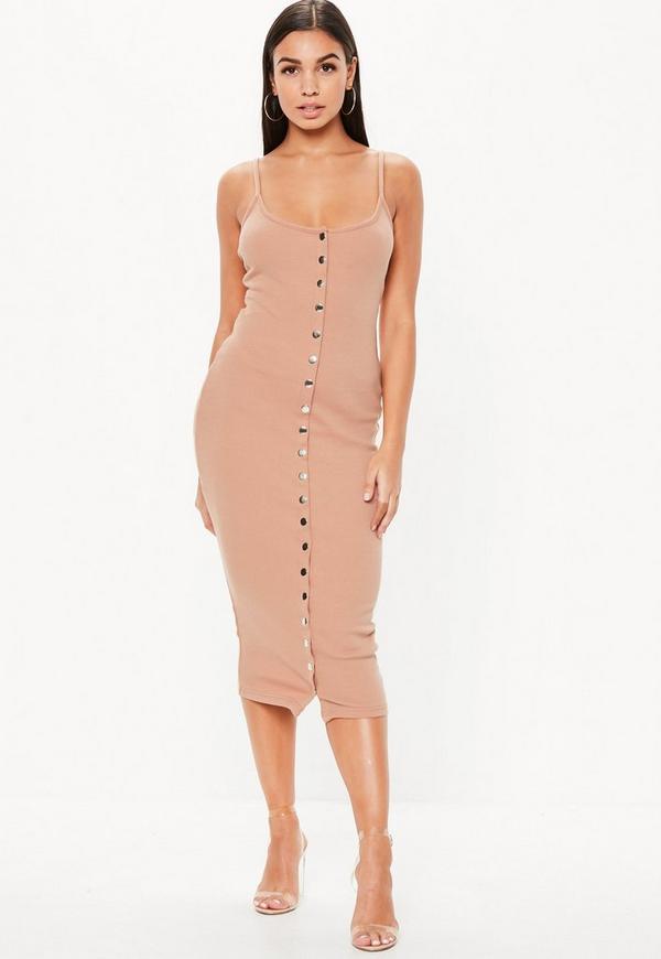 Hot Nude Bodycon Dress HD
