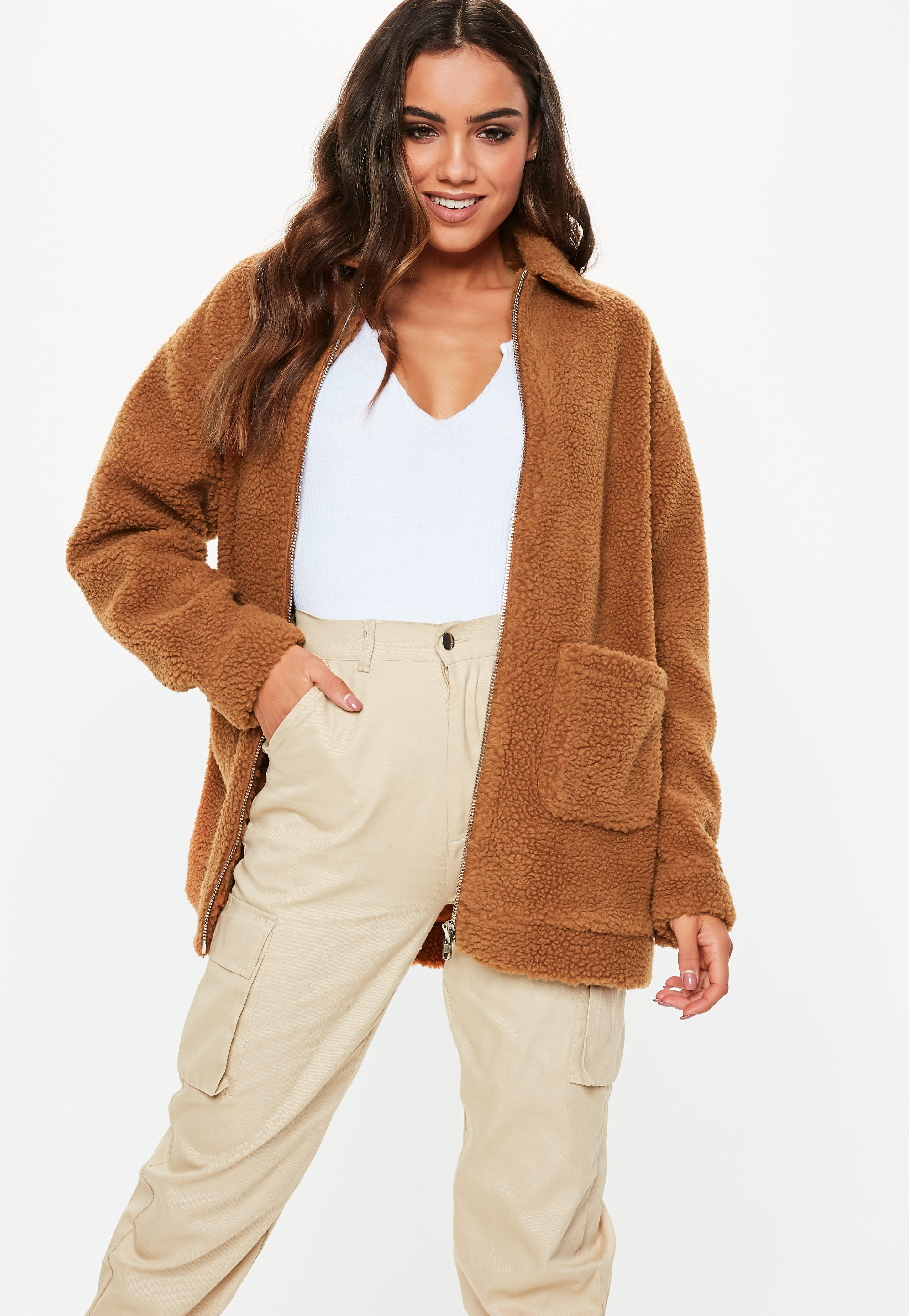 Teddy Jas We.Teddy Coats Borg Jackets Fluffy Coats Missguided