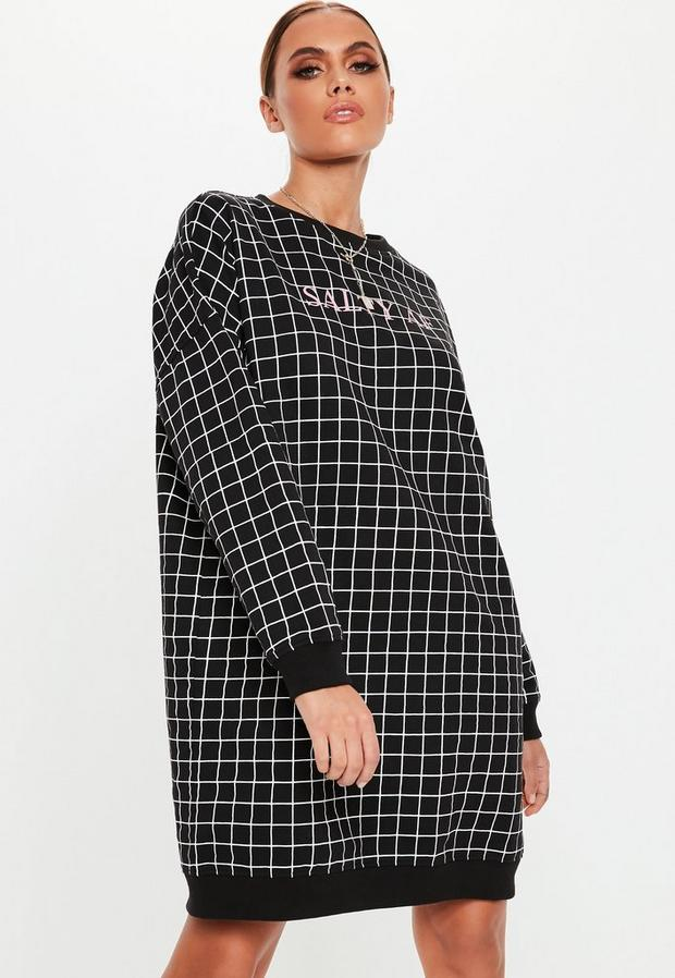 Missguided - Salty Af Grid Sweater Dress - 2