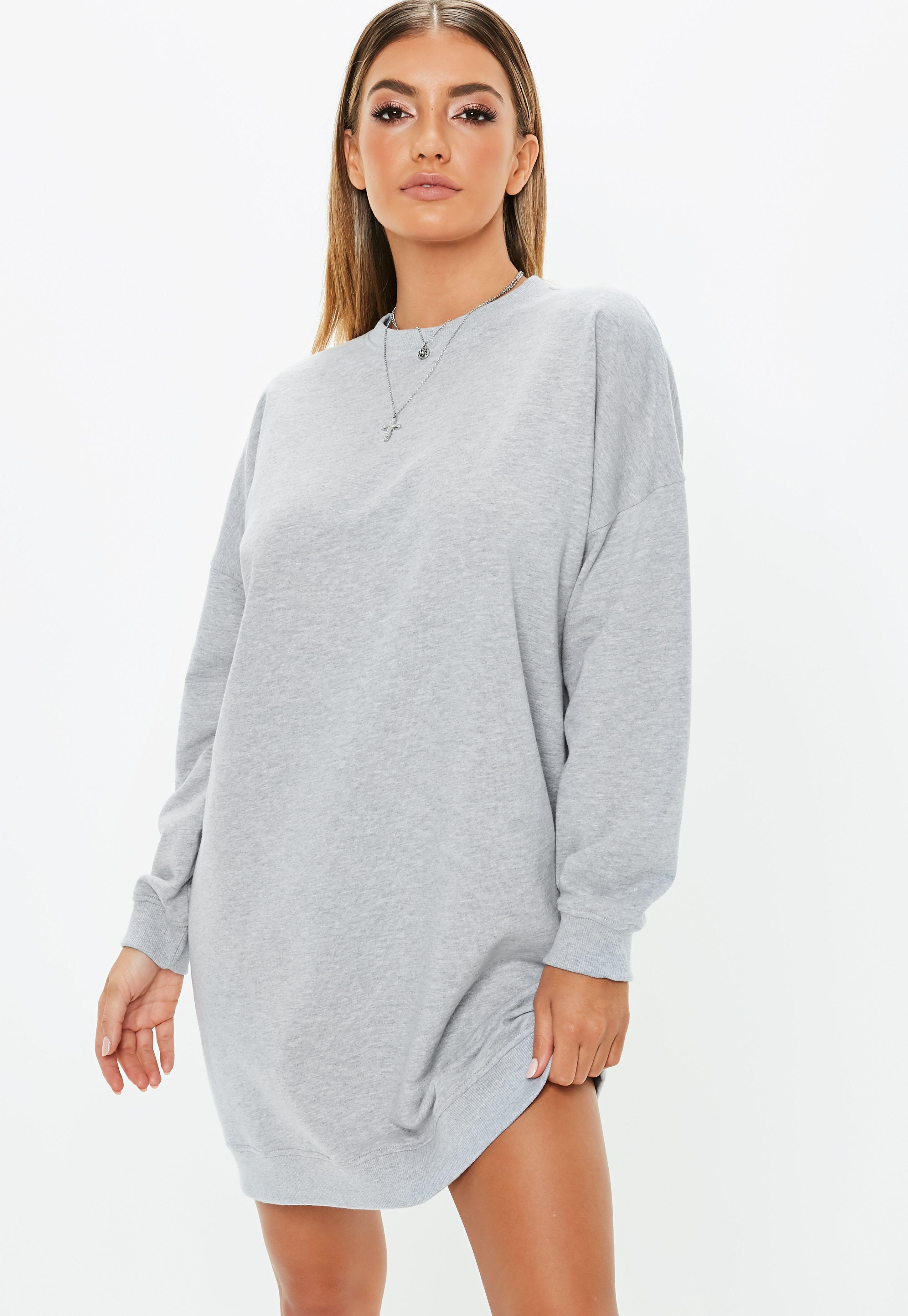 0a381b5c5ab Tall Grey Oversized Sweater Dress