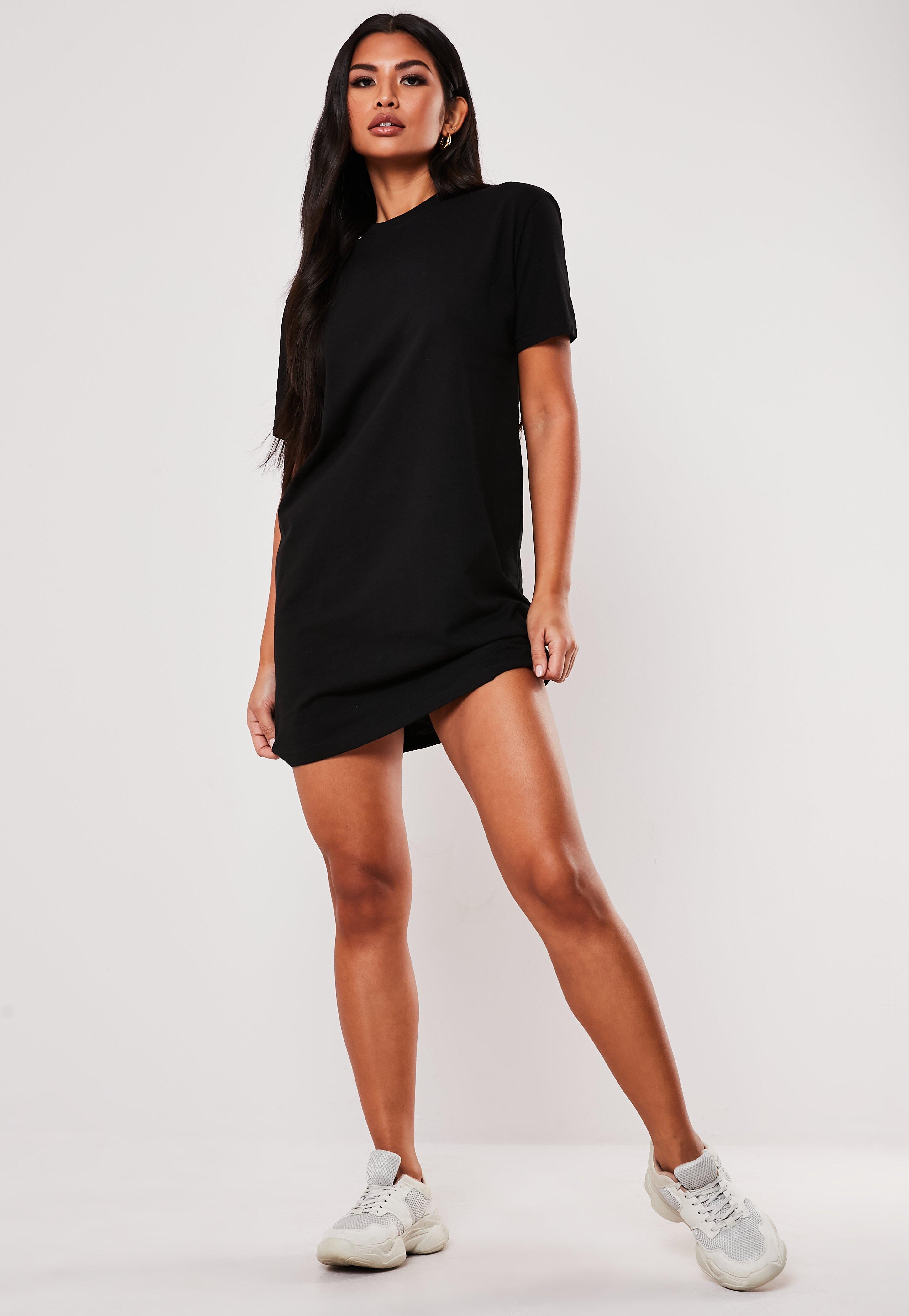0f71ffc3a8 Shoptagr   Tall Black Basic T Shirt Dress by Missguided