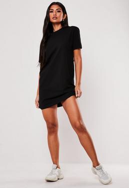 f818fab11c9 ... Tall Black Basic T Shirt Dress