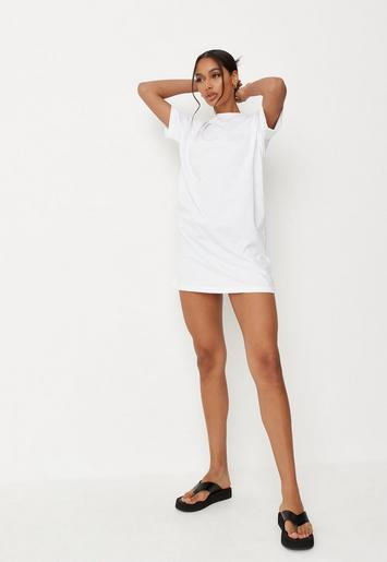 4129d1cc13 Tall White Basic T Shirt Dress | Missguided