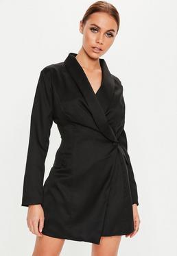 69feb65784 ... Vestido blazer tall asimétrico en negro