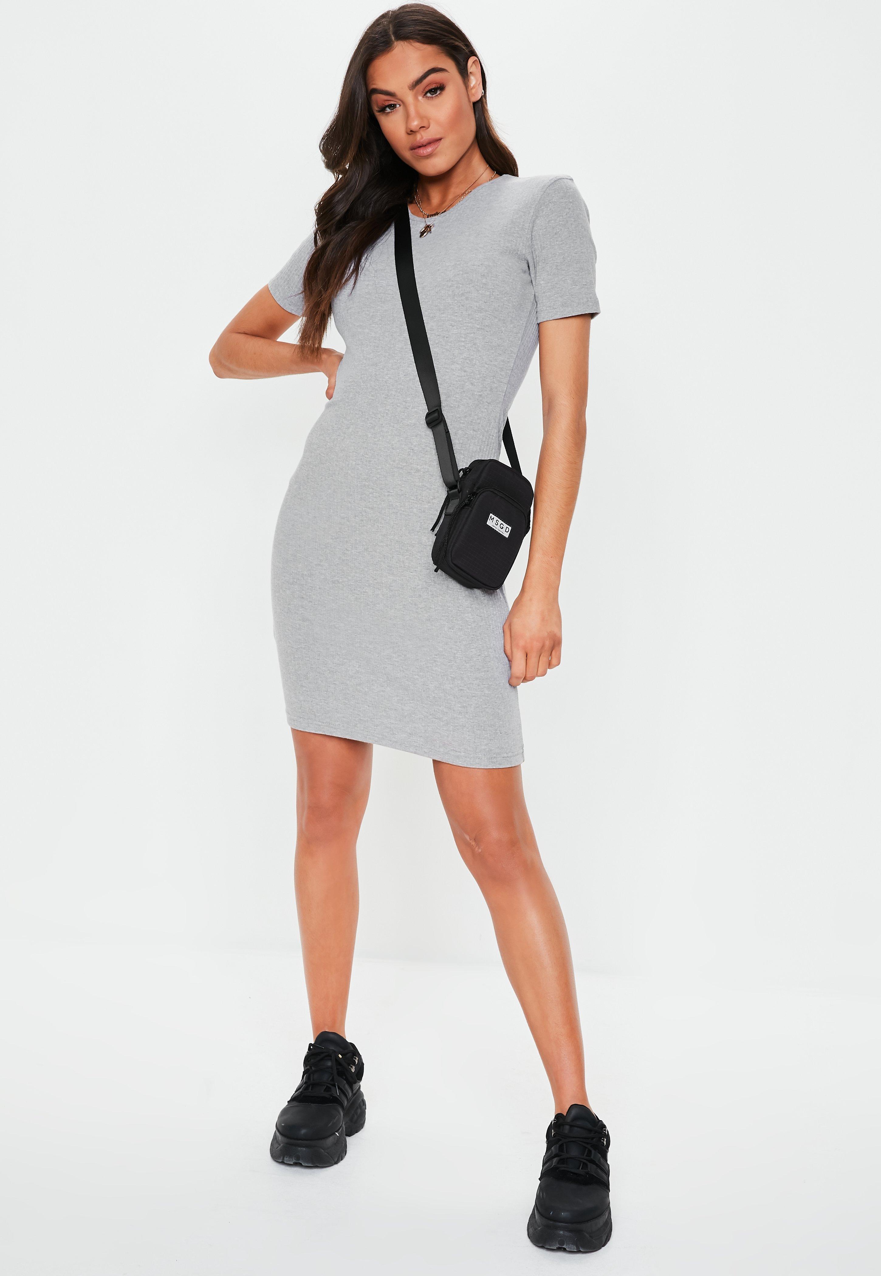 7c4884cb14 Missguided Tall Bridesmaid Gray Scallop Trim Maxi Dress