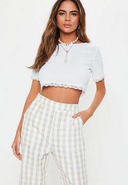 daff36f030284e White Crop Tops
