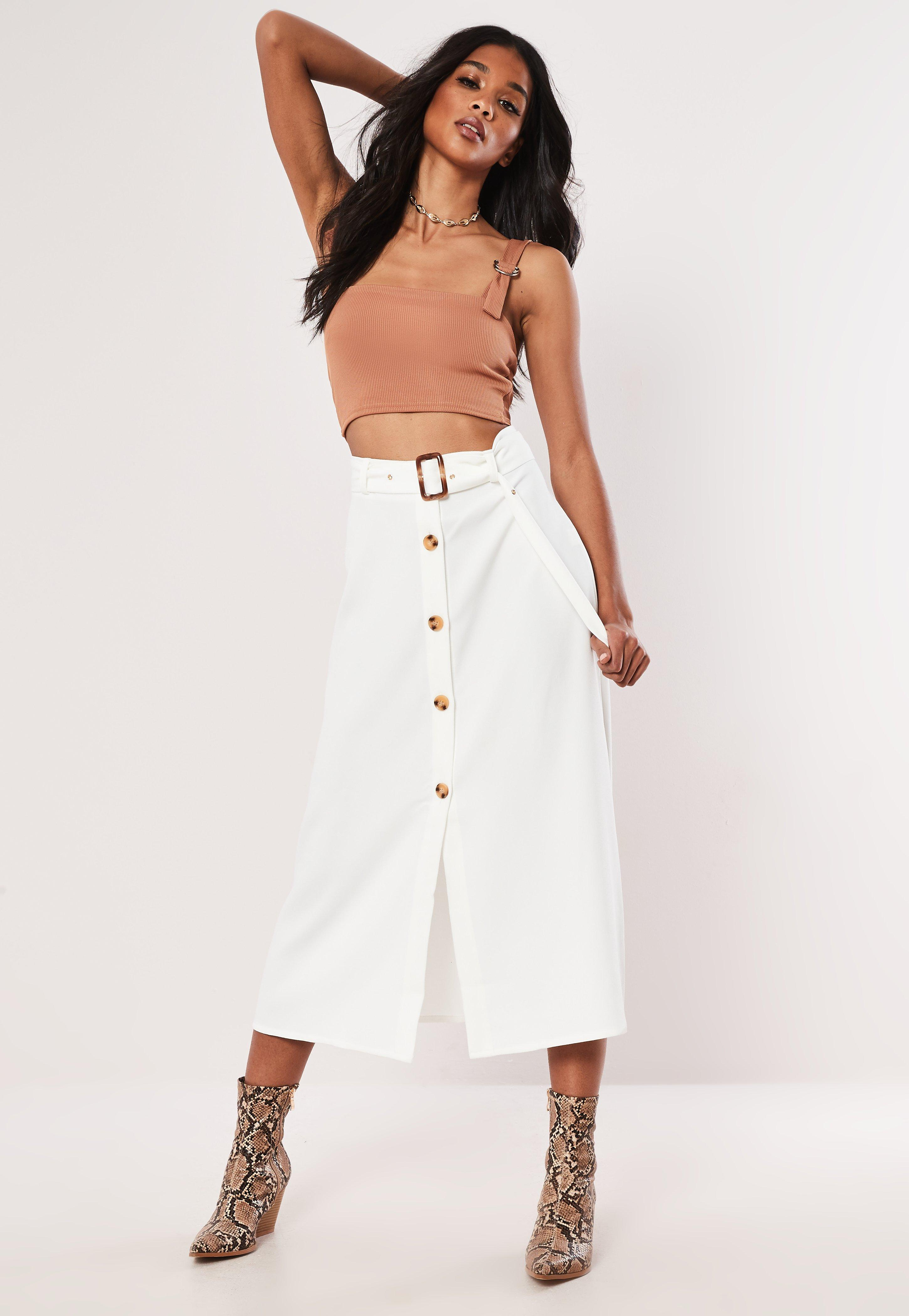 7aaa2f3a44 Midi Skirts | Full & Fitted Midi Skirts - Missguided Ireland