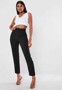 e1282694723c ... Tall Black Belted Cigarette Pants