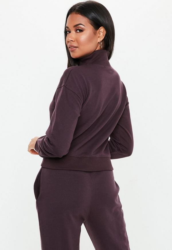 f72286966e8 Tall Brown Zip Neck Sweatshirt. Previous Next