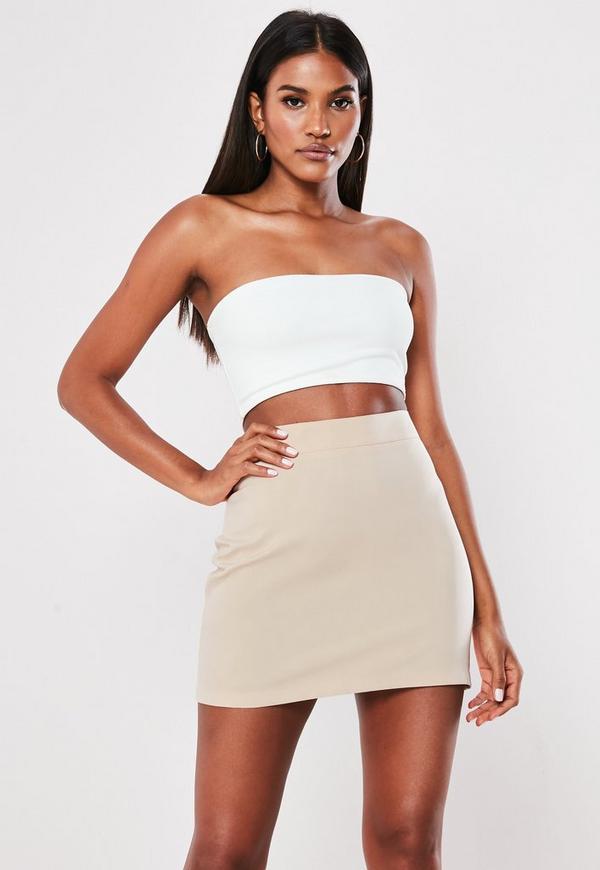 4895b04c6a970 Black Bandeau Ribbed Cut Out Bodycon Mini Dress | Missguided Australia