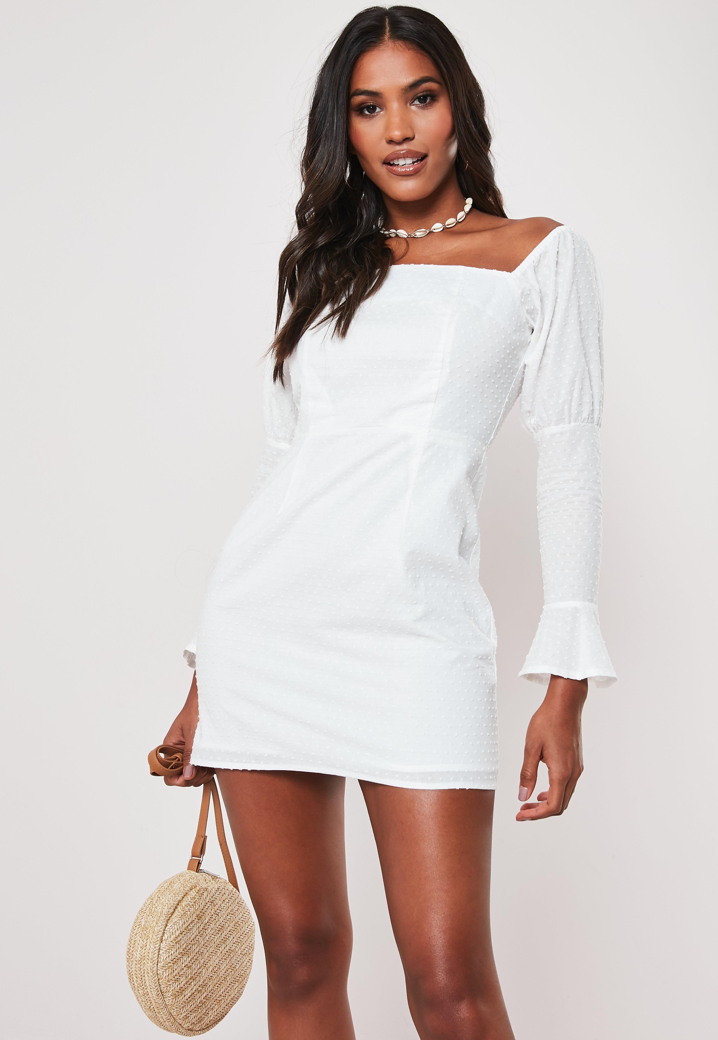831805b3edda Off the Shoulder Dresses - Bardot Dresses Online | Missguided